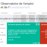 Database on investment and jobs in France